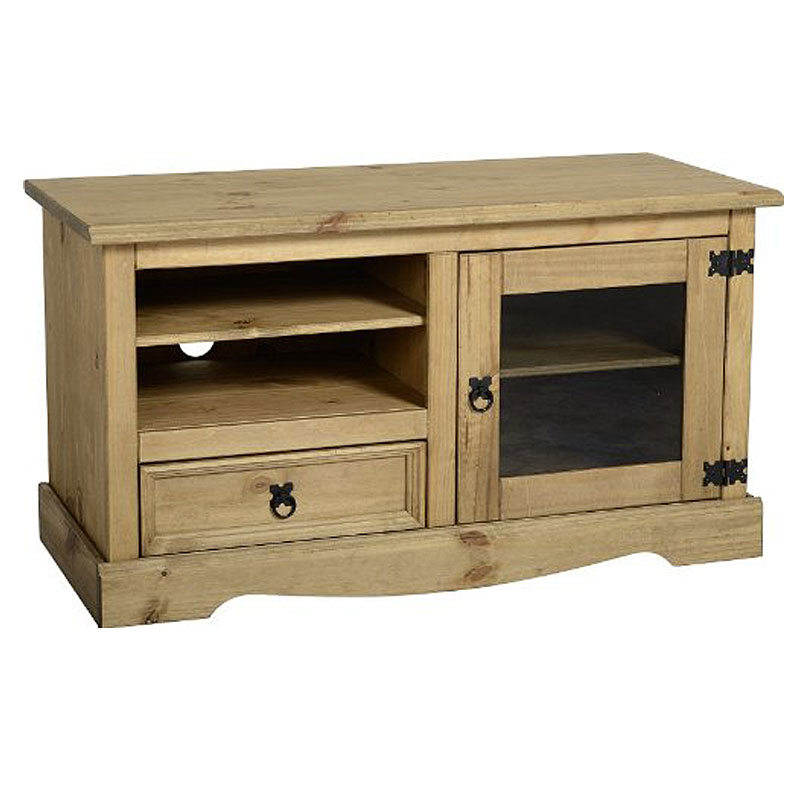 Corona Pine Wood Entertainment Unit - Mexican Style