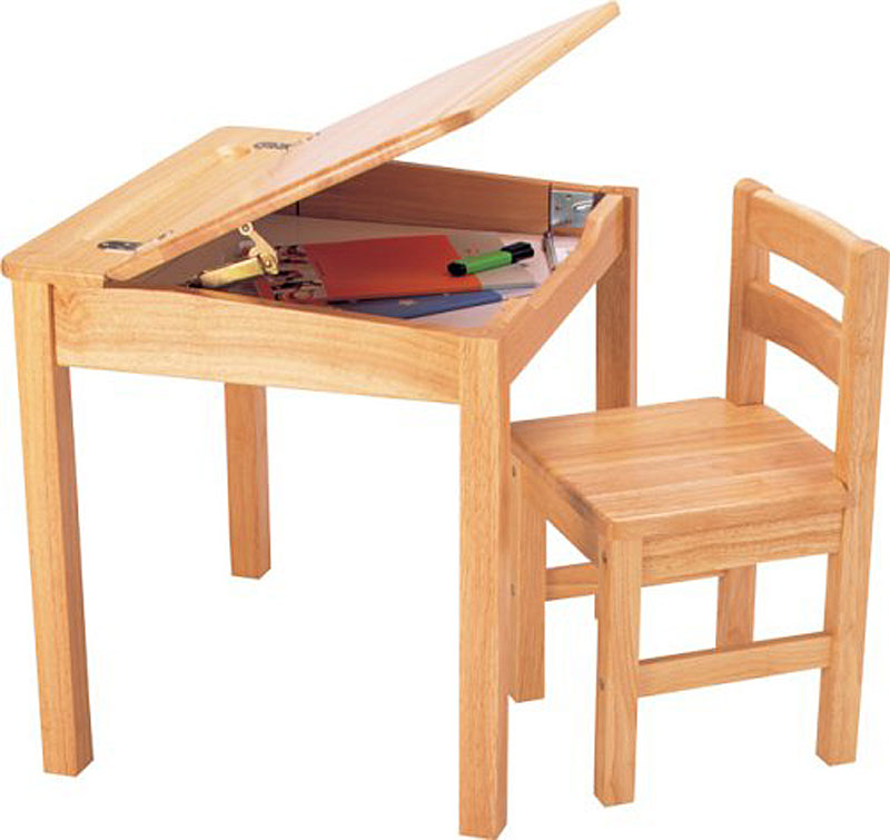 Pintoy Natural Wooden Child's Desk and Chair