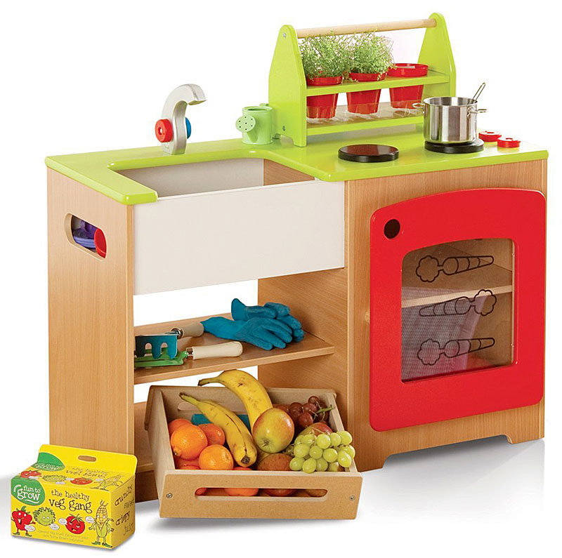Millhouse Wooden Children's Healthy Eating Kitchen and Market