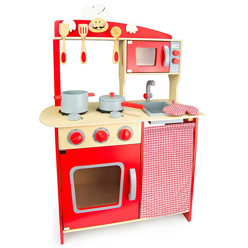 Leomark Big Wooden Play Kitchen Cooker Set Reviews