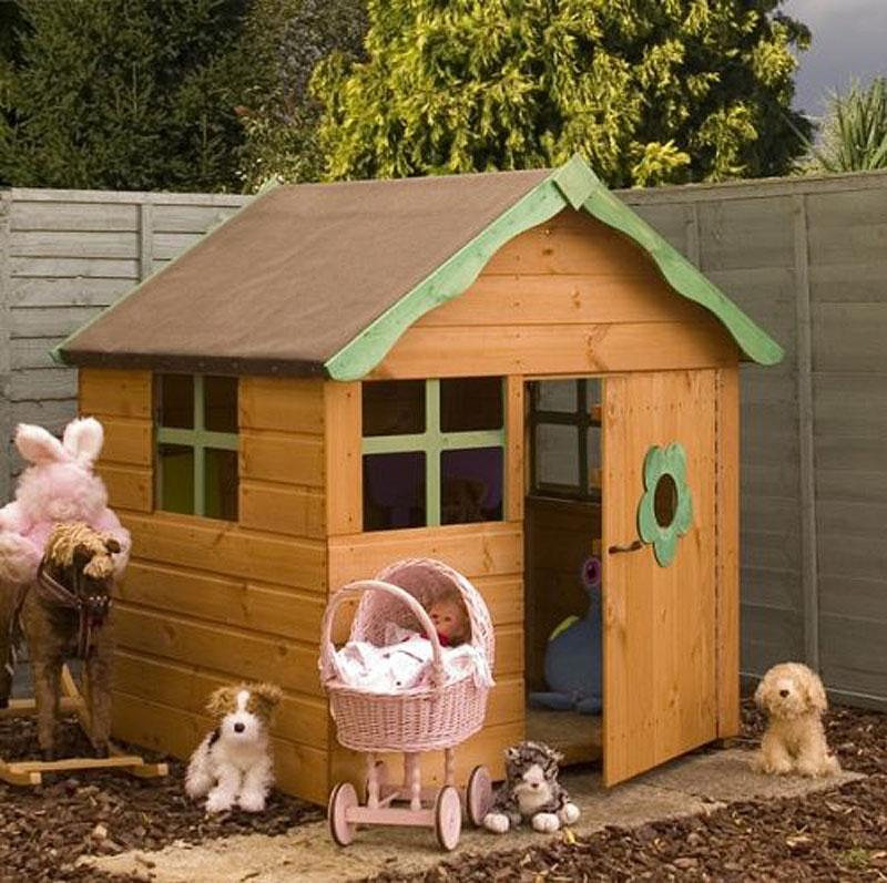 Snug Wooden Play House Honeypot Cottage
