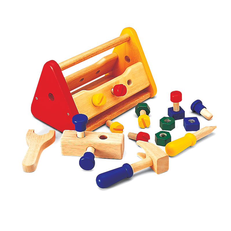 John Crane Pintoy Wooden Play Tool Box